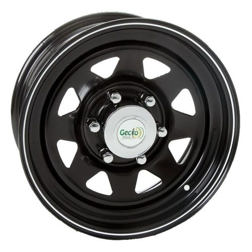 GECKO STEEL RIMS 15X7 6X139 BLACK