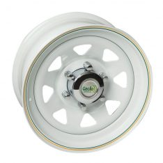 GECKO STEEL RIMS 15X7 6X139 WHITE