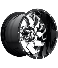 FUEL CLEAVER 20X9 5X150 GLOSS BLACK WITH CHROME CENTRE