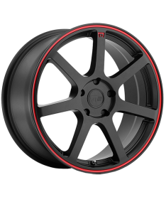 MOTEGI RACING MR132 15X6.5 5X114.3 MATTE BLACK RED CIRCLE
