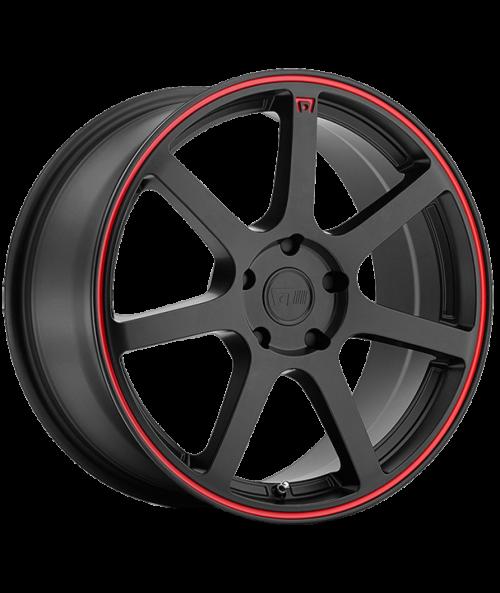 MOTEGI RACING MR132 15X6.5 5X114.3 MATTE BLACK RED CIRCLE