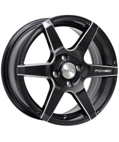 PDW SPEEDSTAR 16X7 5X100 GLOSS BLACK MILLED ACCENTS