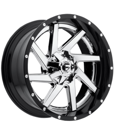 FUEL RENEGADE 22X10 5X150 GLOSS BLACK WITH CHROME CENTRE