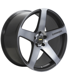 SIMMONS FRC 18X8 5X100 MATTE BLACK TINTED FACE