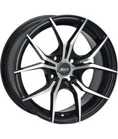 SSW VENOM 15x7 4X100 BLACK MACHINED FACE