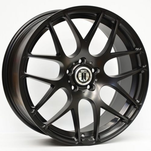 AFTERMARKET REPLICA WHEELS AG-01 19x8.5 5x112 SATIN BLACK