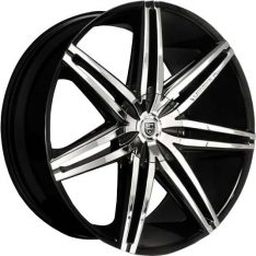 LEXANI JOHNSON II 24X9 6x139.7 MACHINED/BLACK LIP
