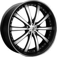 LEXANI LSS10 24X9 6x139.7 FLAT BLACK MACHINED FACE/BLACK LIP (LIMITED EDITION)