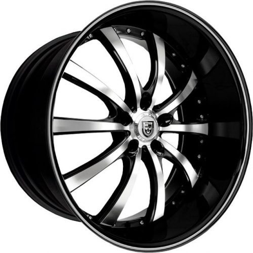 LEXANI LSS10 24X9 6x139.7 MACHINE FACE/BLACK LIP