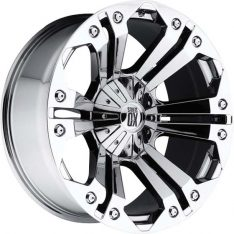 KMC MONSTER XD 24X10 6X139.7 CHROME - WHEEL|||||