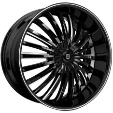 LEXANI ROYAL 24X9 6X114.3 GLOSS BLACK/MILLED WINDOW EDGE - WHEEL