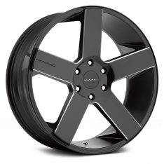 KMC MC-5 KM690 24X9.5 6x139.7 SATIN BLACK MILLED ACCENTS - WHEEL