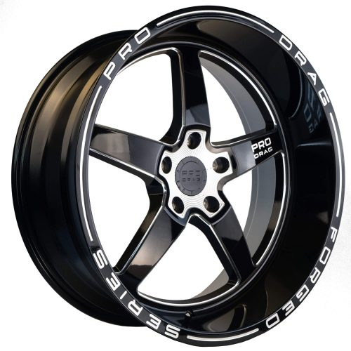 PRO DRAG PD1 20X10 5X130 GLOSS BLACK MILLED SPOKE/BLACK LIP - WHEEL