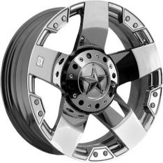 KMC ROCKSTAR XD 20X8.5 6x139.7 CHROME - WHEEL|||
