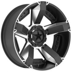 KMC ROCKSTAR XD 2 20X9 6x114.3 MATTE BLACK/MACHINE FACE - WHEEL