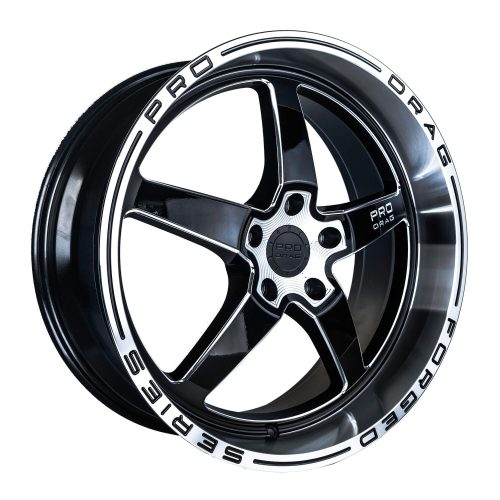 PRO DRAG PD1 20X10 5X100 GLOSS BLACK MILLED SPOKE/POLISHED LIP