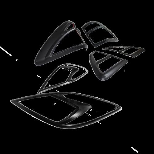 Black Headlight & Tail Light Trims to suit Mazda BT50 2012-2019