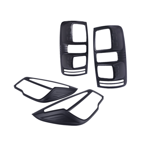 Black Headlight & Tail Light Trims to suit Holden Colorado RG (2012-2015)