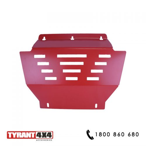 Red Underbody Bash Plate to suit Isuzu Dmax