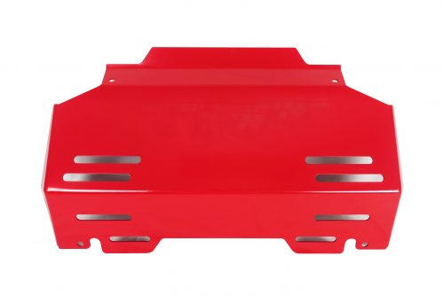 Red Underbody Bash Plate to suit Toyota Hilux N80