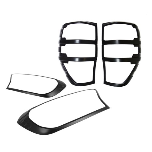 Black Headlight & Tail Light Trims to suit Ford Ranger PX2 & PX3