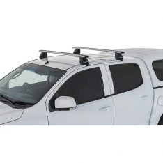 Silver Vortex 2500 Roof Racks to suit Holden Colorado RG